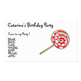 Candy  Party- Customised Pack Of Standard Business Cards