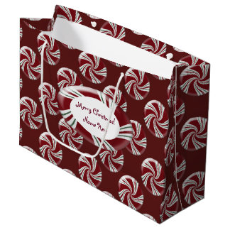 Candy Peppermint Stripes Large Gift Bag