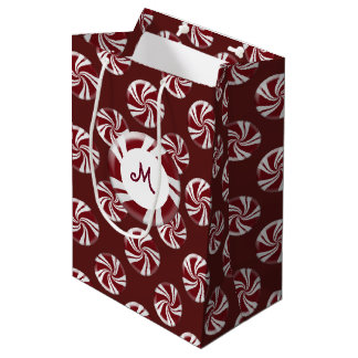 Candy Peppermint Stripes Medium Gift Bag