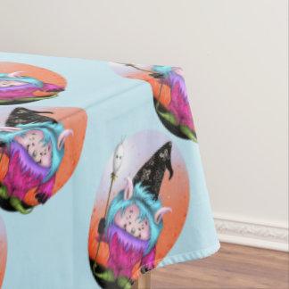 "CANDY PET 1 BLUE Tablecloth Halloween 60""x104"" 2"