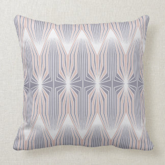 Candy pink Artdeco pattern Throw Pillow