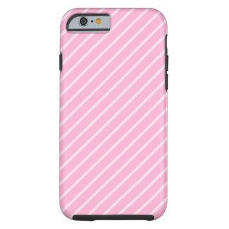 Candy Pink Diagonal Striped Pattern. Tough iPhone 6 Case