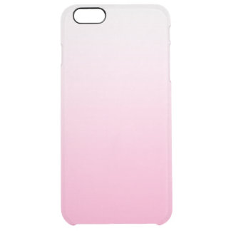 Candy Pink Gradient Ombre Clear Clear iPhone 6 Plus Case