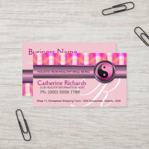 Pink reiki business cards zazzle au candy pink reiki health beauty business cards reheart Gallery
