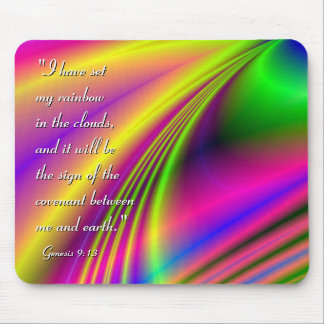"""Candy Rainbow"" Inspirational Mouspad Mouse Pad"