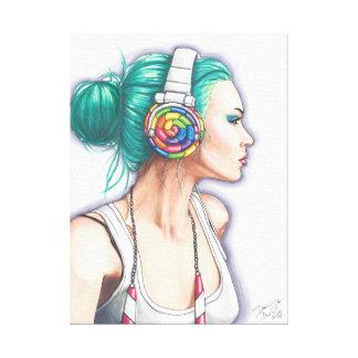 Candy Rocker Art Canvas Candyland Punk Girl