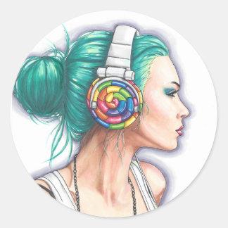 Candy Rocker Sticker Headphone Girl Sticker