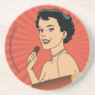 Candy Roll Girl Drink Coasters