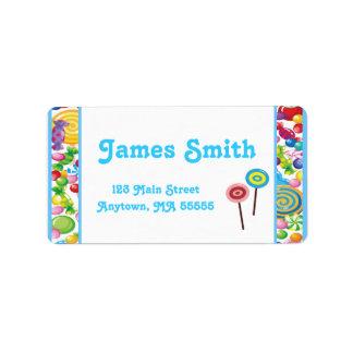Candy Shop Blue Boy Address Labels