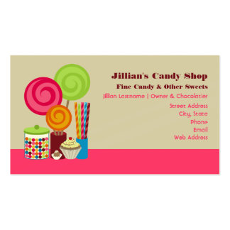 Candy Shop Business Cards