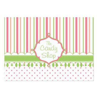 Candy Shop Custom Chubby Business Card Templates