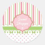 Candy Shop Custom Round Sticker