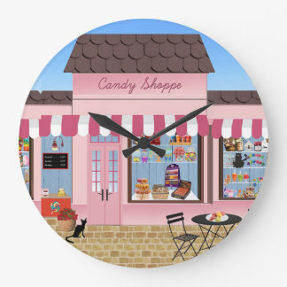 Candy Shop Large Clock