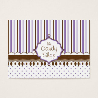 Candy Shop Lavender Custom Business Card
