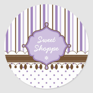 Candy Shop Lavender Custom Classic Round Sticker