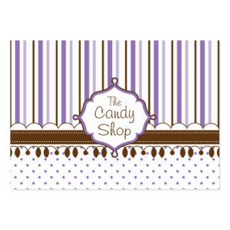 Candy Shop Lavender Custom Pack Of Chubby Business Cards