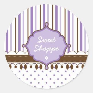 Candy Shop Lavender Custom Round Sticker