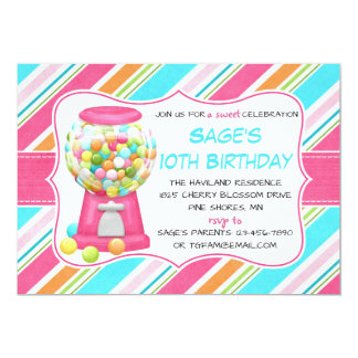 Candy Shoppe Sweet Shop Birthday Invitations