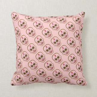 Candy Skulls Day of the Dead Throw Cushion
