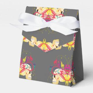 Candy skulls, floral, mandala style favour box