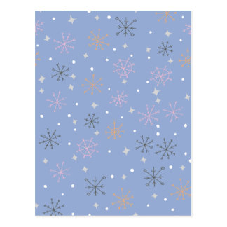 Candy snowflakes postcard