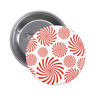 Candy Spiral Peppermint Swirl Design Buttons