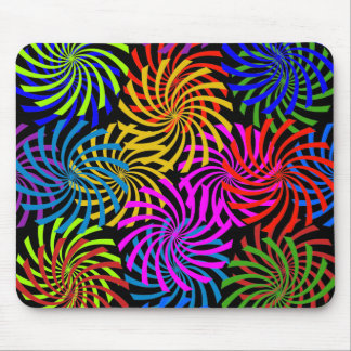 Candy Spiral Peppermint Swirl Design Mouse Pad
