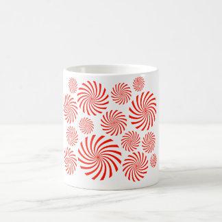 Candy Spiral Peppermint Swirl Design Coffee Mugs