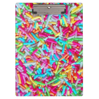 Candy Sprinkle Pattern Clipboard