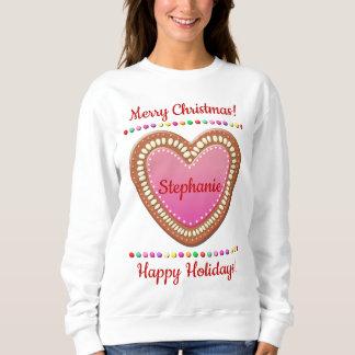 Candy-Sprinkled German Gingerbread Heart Sweatshirt