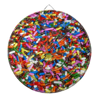 Candy Sprinkles Dartboard With Darts