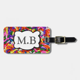 Candy Sprinkles Luggage Tag