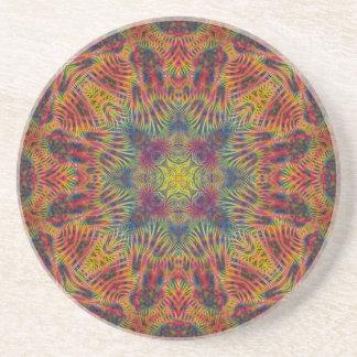 Candy Star Quadragram  Sandstone Coaster