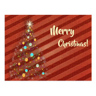 Candy strip Christmas tree Postcard