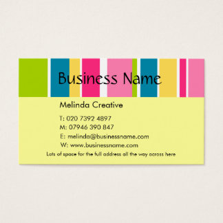 Candy Stripe Business Card