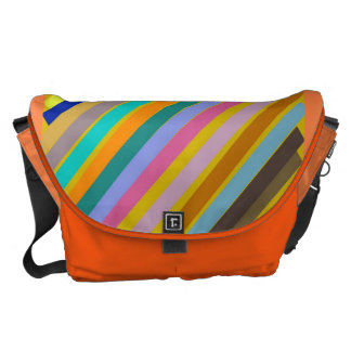 Candy stripe courier bag