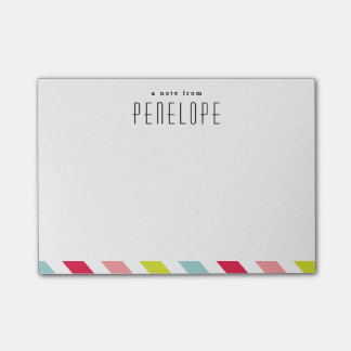 Candy stripe notepad post-it notes