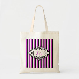 Candy stripe vintage monogram