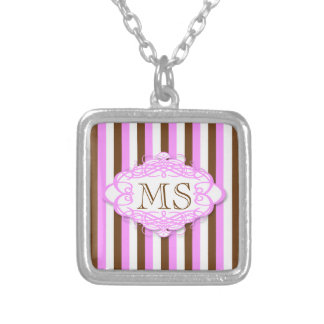 Candy stripe vintage monogram jewelry