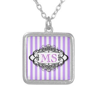 Candy stripe vintage monogram pendants