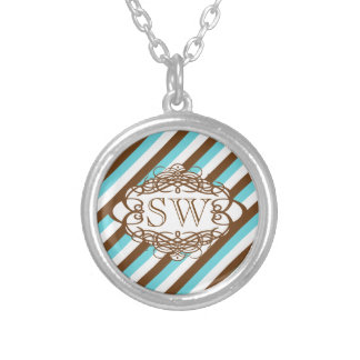 Candy stripe vintage monogram custom jewelry