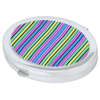 Candy Striped Compact Mirror