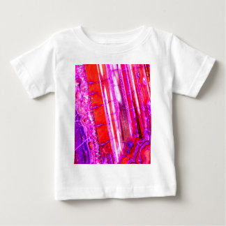 Candy Striped Red & Purple Quartz Baby T-Shirt