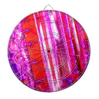 Candy Striped Red & Purple Quartz Dartboard