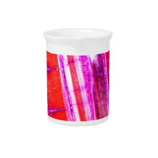 Candy Striped Red & Purple Quartz Pitcher