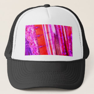 Candy Striped Red & Purple Quartz Trucker Hat