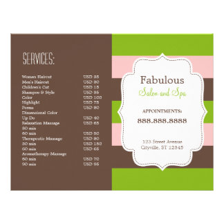 Candy Stripes Folded Brochure Personalized Flyer