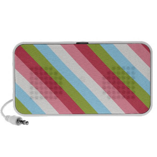 Candy Stripes Pattern Doodle Speaker