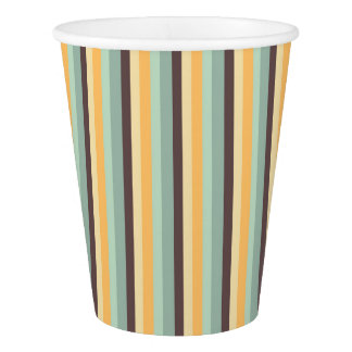 Candy Stripes Pattern Paper Cup