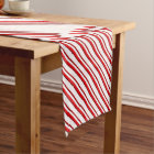 Candy Stripes, peppermint red & white Short Table Runner